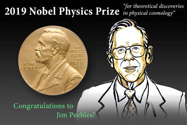 Bill Peebles 2019 Nobel Physics Prize Congratulations